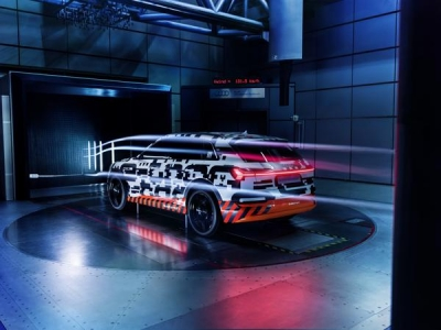 Optimale stroomlijn Audi e-tron: duurtest in de windtunnel