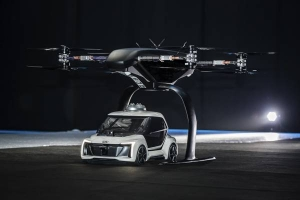 Audi test prototype vliegende taxi in Amsterdam