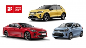 iF Design Awards voor Kia Stinger, Stonic en Picanto